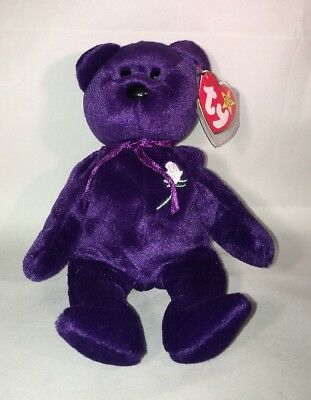 e5b495ab6bd TY Beanie Baby 1997 1st Edition Princess Diana Bear Made in China Rare