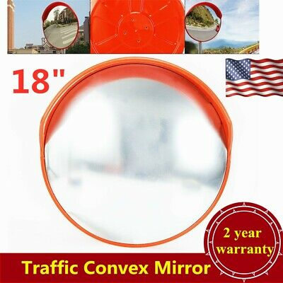 "45cm/18"" Outdoor Traffic Convex PC Mirror Wide Angle Driveway Safety Security US"
