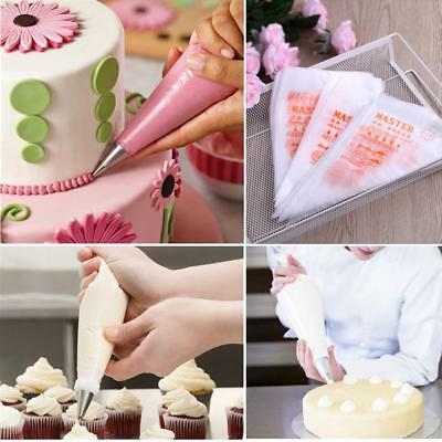 100pcs Plastic Disposable Piping Bag Icing Fondant Cake Cream Decor Pastry Bags