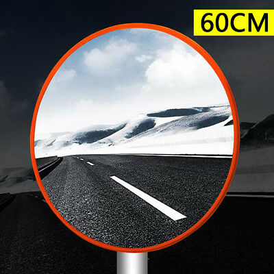 "60cm/24"" Outdoor Traffic Convex PC Mirror Wide Angle Driveway Safety Security"