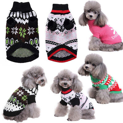 Pet Warm Cute Dog Cat Jacket Coat Puppy Clothes Winter Sweater Christmas Apparel