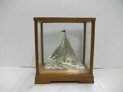 The sailboat of silver of Japan. #43g/ 1.51oz.Japanese antique