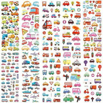 10 Sheets Cartoon Bubble Stickers Transport Cars Kids Bubble Stickers