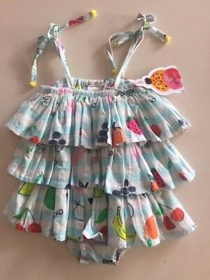 Alex & Ant frill playsuit size 3-6 months - BNWT