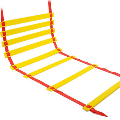 Training Agility Speed Red Strap Yellow Ladder Suitable For Soccer Training 4m
