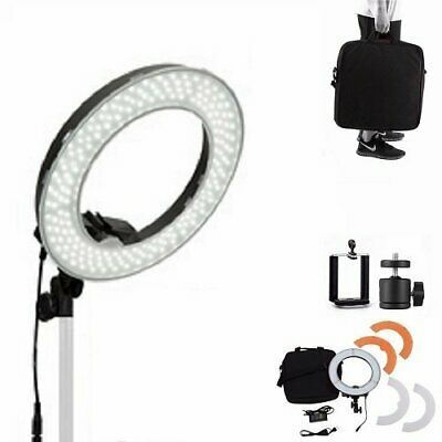 Dimmable 14-inch 40W 5500K LED Ring Light Adjustable Video Photo Makeup Studio