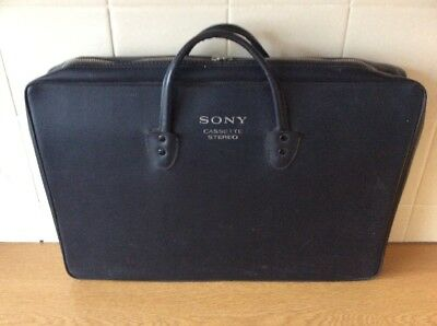 Vintage Sony Cassette Stereo Carry Briefcase VGC  TC-124CS