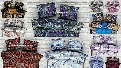 Indian Hand Printed Cushion Cover Ethnic Pillow Sham Cotton Pillow Cover Decor