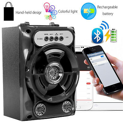 Portable Bluetooth Speaker Super Bass USB/TF/AUX/FM Radio Card Music MP3 Player