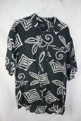Vintage 80s Kuta BEACH Punk Line New Wave SURF BUTTON UP SHIRT Indie Grunge Retr