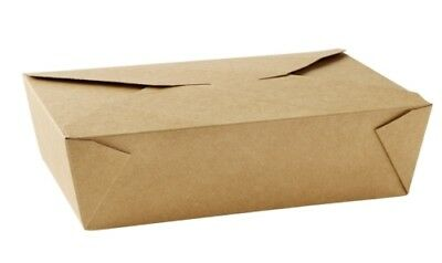 Food Box Brown  #6A  Biodegradable Disposable Paper Lunch Salad Box Takeaway