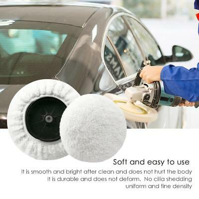 "5 ~8"" 180mm Soft Wool Clean Polishing Buffing Bonnet Pad for Car Auto Polisher"
