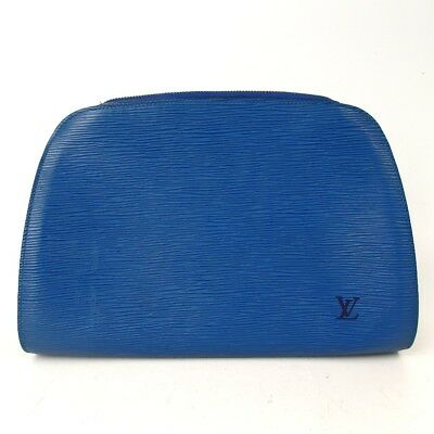 Authentic LOUIS VUITTON Jung Dauphine GM Epi Pouch Epi Leather[Used]