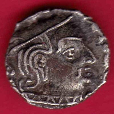 Ancient India - Kshatrap Dynasty - Kings Portrait - Rare Silver Coin #i25