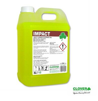 5Ltr Floor Cleaner Impact Lemon Zest Cleaning Gel Hard Surface Cleaner