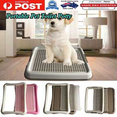 Portable Pet Indoor Dog toilet Potty Dog Pee Box Cat litter Plastic Tray Pad