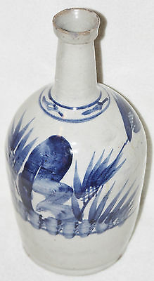 Japanese Edo Period (late 18th/early 19th Century) Large Blue & White Wine Jar