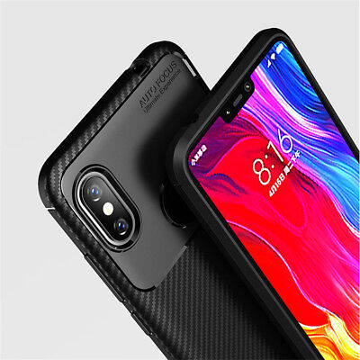 For Xiaomi Redmi Note 6 Pro Shockproof Slim Silicone Hybrid Case Soft TPU Cover