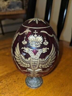 Paul Allen Faberge Egg St Petersburg Russia celebrity Romanov crest gift LTD 200