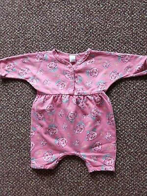 Next - Baby Girls - Pink Floral Design Romper Outfit - Age 0-3 Months