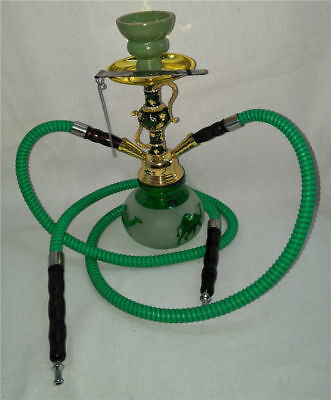 Hookah Single Hose Glass Water Pipe Vase Tobacco Shisha Nargile Smoking Bong Set