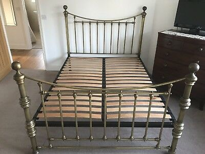Beautiful Brass Edwardian Style Bedstead 5ft. Excellent Condition