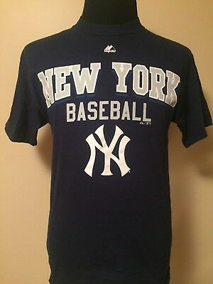 MLB New York Yankees MED Word Mark + Logo Printed Tee by Majestic