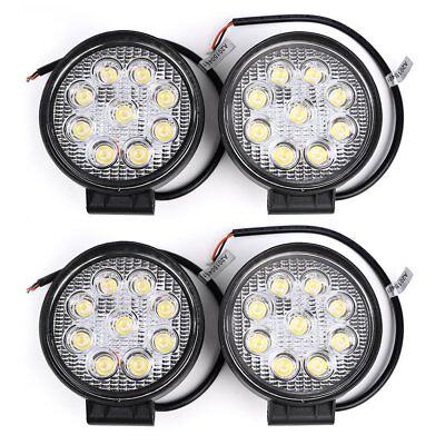 4x 27W LED WORK LIGHT SPOT BEAM OFFROAD LAMP LIGHT TRUCK 12/24V 4WD 4x4 ROUND