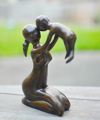 Brass Handmade Mother & Son Sculpture