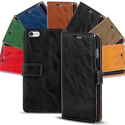 Apple iPhone 6 6s Shockproof Wallet Book Case Cover PU Leather Flip Holder Stand
