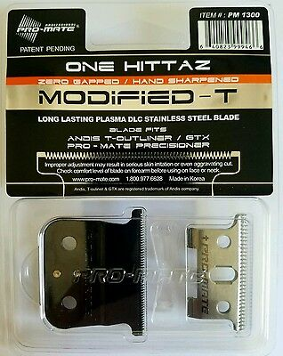 PRO-MATE ONE HITTAZ MODIFIED REPLACEMENT BLADES Fits Andis T Outliner, GTX
