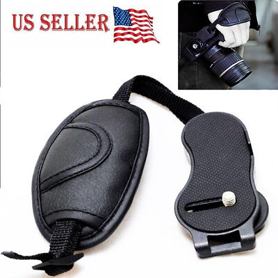 "1/4""Camera Leather Wrist Hand Grip Strap For Nikon Canon Olympus SLR DSLR Camera"