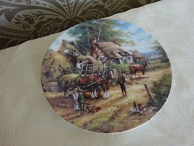 Collectors Plate Wedgwood Country Days Series Making the Hayrick