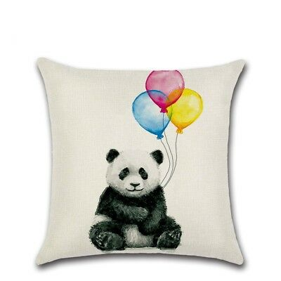 Lovely Balloon Animal Cotton Linen Cushion Cover Throw Pillow Cover Cases