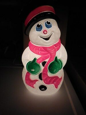 """Nice 1999 Grand Venture 18"""" Frosty The Snowman Christmas Lighted Blowmold"""