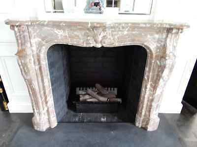 MARBLE FIREPLACE SURROUND, BROWN FRENCH MARBLE , 7r