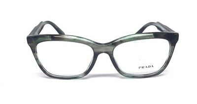 New Unisex PRADA VPR 24S UEP - 1O1 Green/Grey Genuine Eyeglasses 55-16-140