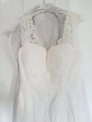 Brand New Jasmin Couture Lace Ivory Sweetheart Wedding Dress Size 12