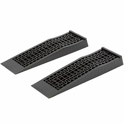 2 Pack Heavy Duty Low-Profile Car Service Ramps Stands for Service Maintenance
