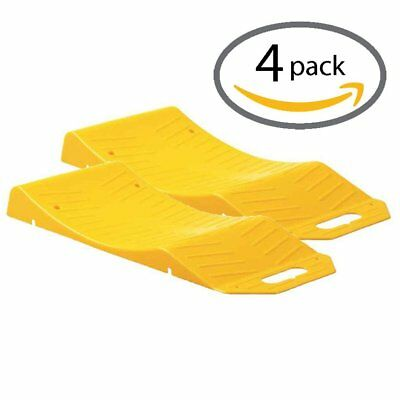 4 Pack Tire Saver Ramps for Storage Flat Spot Tire Prevention Car SUV Trailer