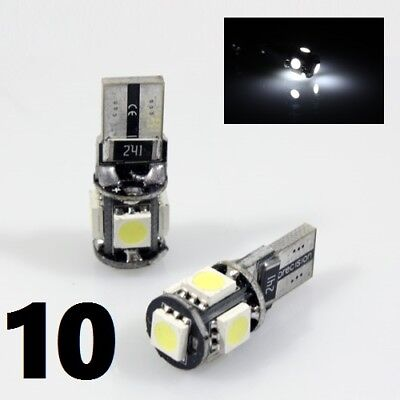 10 x CANBUS T10 Globe *WHITE*Wedge SMD Parker Number Plate LED Bulb W5W T10 194*