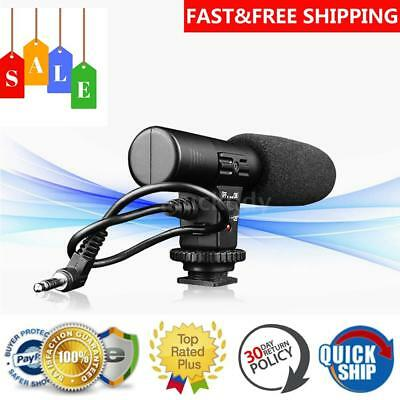 3.5mm Recording Microphone Mic For Nikon Canon DSLR Camera Video DV Camcorder UK