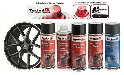 Alloy Wheel Paint Kit SPEED GLOSS BLACK + CLEAR COAT LACQUER + BLACK ETCH PRIMER