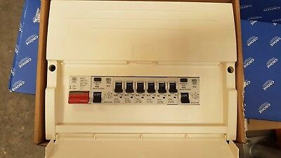 Mk K7664s PTP consumer units (fully populated, plastic clad)