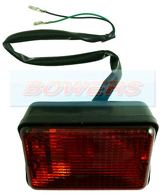 Classic Mini Rectangular Red Rear Fog Lamp Light Lep England Xfe10006