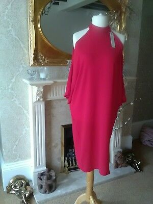 Gorgeous Red Liquorish Cold Shoulder Midi Dress. Size 10. Brand New With Tags