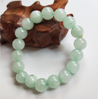 Chinese natural jade bracelet  Fashion Elastic Bracelet  10mm