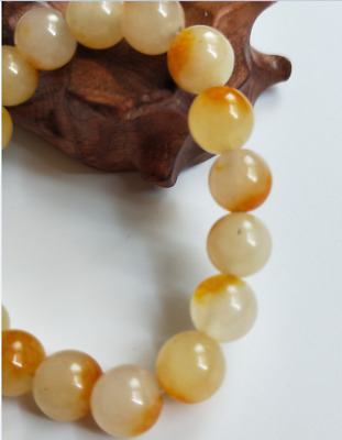 Chinese natural yellow Agate Bracelet  Fashion Bracelet  10mm