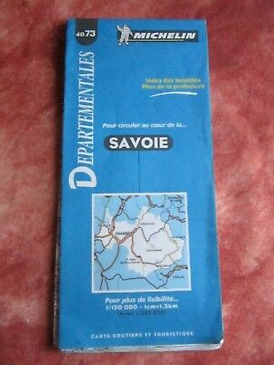 1 carte  Michelin 1997  FRANCE SAVOIE ( N°- 40 73 )