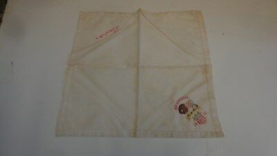 1901 Pan American World's Fair Hanky Handkerchief Linen Souvenir